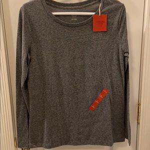 NWT Mossimo gray long sleeve shirt
